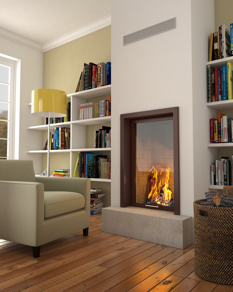 foyer de chemin e vertical droit vertivision avec paroi. Black Bedroom Furniture Sets. Home Design Ideas