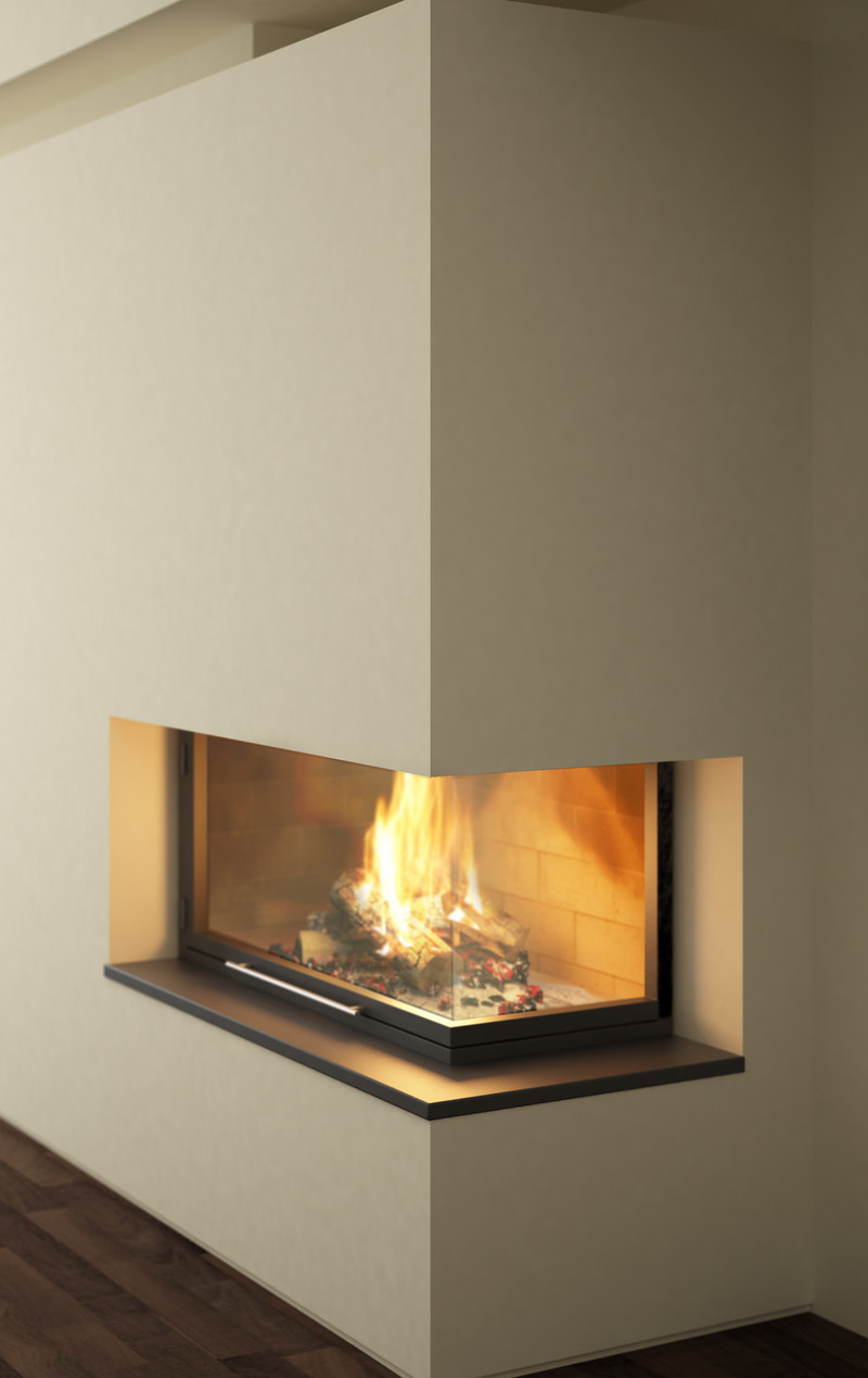multisided fireplaces lateral