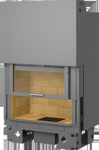 foyer de chemin e droit frontal avec porte escamotable. Black Bedroom Furniture Sets. Home Design Ideas