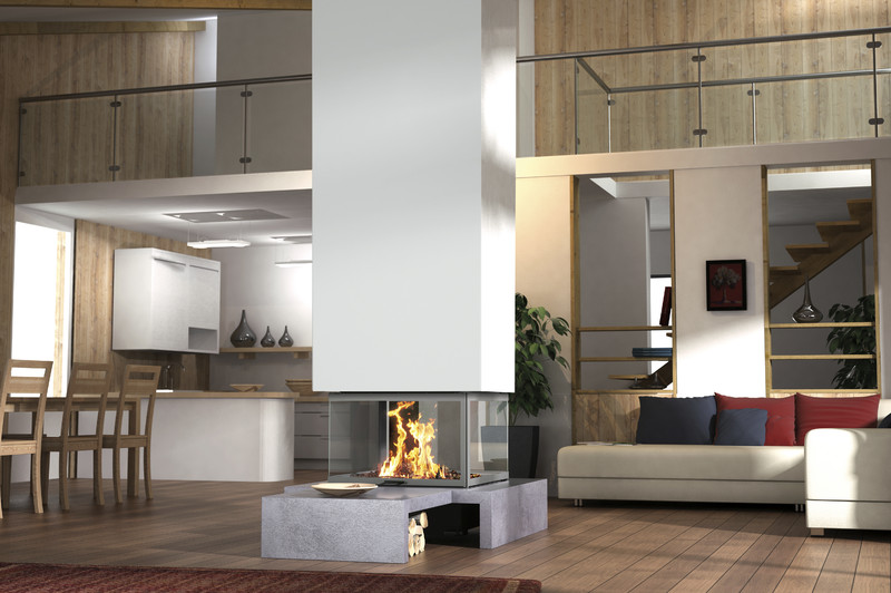 4 sided suspended fireplace technika rh totemfire com 4 sided wood fireplace 4 sided fireplace frame